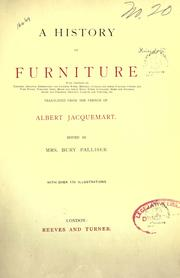 Cover of: A history of furniture