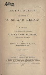 Cover of: A guide to the principal gold and silver coins of the ancients, from circ. by British Museum. Department of Coins and Medals.