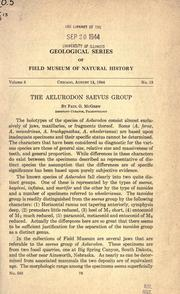 Cover of: The Aelurodon saevus group