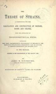 The theory of strains by John H. Diedrichs