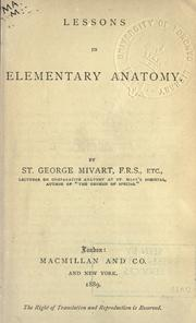 Cover of: Lessons in elementary anatomy