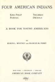 Cover of: Four American Indians