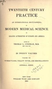 Cover of: Twentieth century practice