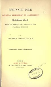 Cover of: Reginald Pole