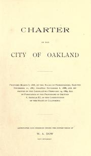 Cover of: City charter of the city of Oakland, Cal |