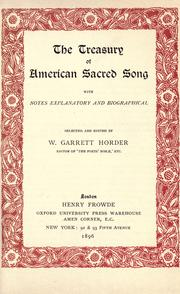 Cover of: The treasury of American sacred song