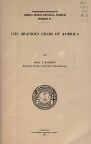 Cover of: ... The grapsoid crabs of America