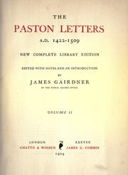 Cover of: The Paston letters, A. D. 1422-1509 by