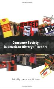 Cover of: Consumer Society in American History