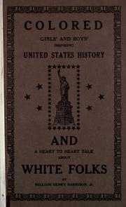Cover of: Colored girls and boys' inspiring United States history