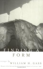 Cover of: Finding a form
