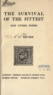 Cover of: The survival of the fittest, and other poems