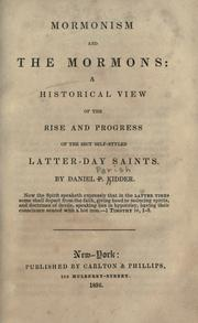 Mormonism and the Mormons by Daniel P. Kidder