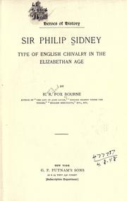 Cover of: Sir Philip Sidney: type of English chivalry in the Elizabethan Age