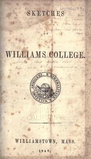 Cover of: Sketches of Williams College