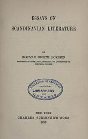 Cover of: Essays on Scandinavian literature