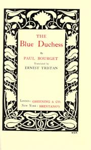 Cover of: The blue duchess