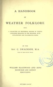 Cover of: A handbook of weather folk-lore