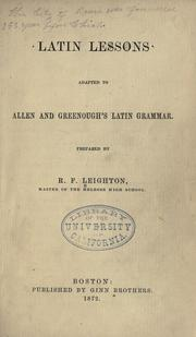 Latin lessons by Robert Fowler Leighton