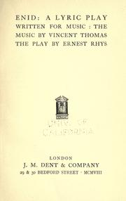 Cover of: Enid: a lyric play written for music