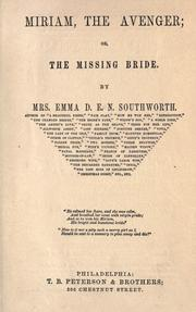 Cover of: Miri am, the avenger; or, The missing bride