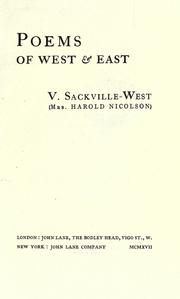 Cover of: Poems of West & East [by] V. Sackville-West (Mrs. Harold Nicolson)