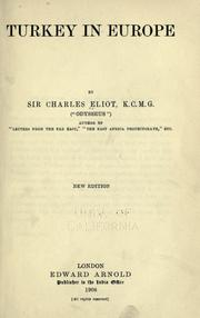 Cover of: Turkey in Europe | Sir Charles Eliot