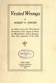 Cover of: Vested wrongs