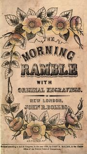 Cover of: The morning ramble by