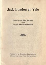 Cover of: Jack London at Yale | Alexander Fitzgerald Irvine