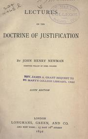 Cover of: Lectures on the doctrine of justification