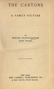 Cover of: The Caxtons