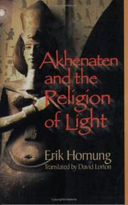 Cover of: Akhenaten and the Religion of Light