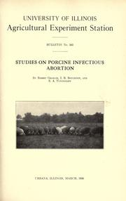 Cover of: Studies on porcine infectious abortion