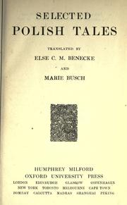 Selected Polish tales by Else Cecilia Mendelssohn Benecke