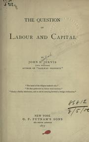 Cover of: The question of labour and capital