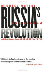 Cover of: Russia's unfinished revolution