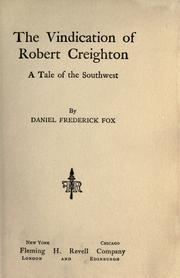 Cover of: The vindication of Robert Creighton