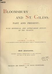 Cover of: Bloomsbury and St. Giles's