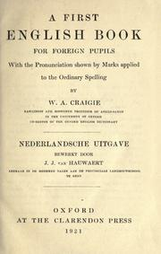 Cover of: First English book for foreign pupils