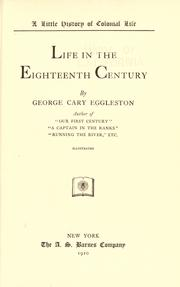 Cover of: Life in the eighteenth century