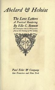 Cover of: Abelard & Heloise: The story of his misfortunes, and the personal letters