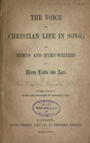 The voice of Christian life in song by Elizabeth Rundle Charles