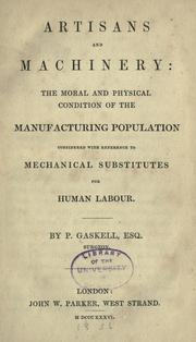 Cover of: Artisans and machinery