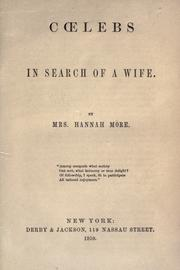 Cover of: Coelebs in search of a wife