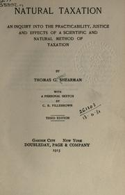 Cover of: Natural taxation
