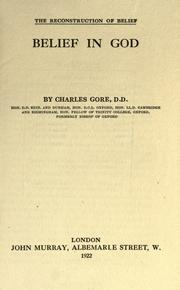 Belief in God by Gore, Charles