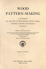 Wood pattern-making by Horace Traiton Purfield