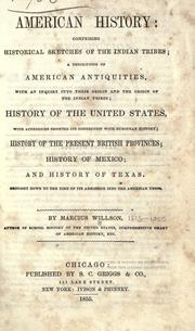 Cover of: American history: comprising historical sketches of the Indian tribes