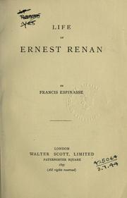 Life of Ernest Renan by Francis Espinasse